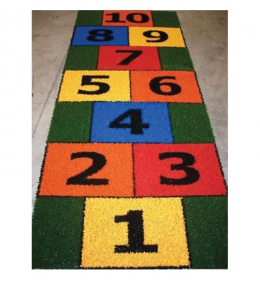Fun Grass Hopscotch Blocks