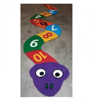 Fun Grass Hopscotch Numbered Snake - Without Background