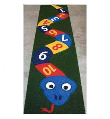 Fun Grass Hopscotch Numbered Snake - With Background