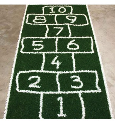 Fun Grass Crayon Hopscotch