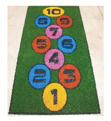 Fun Grass Modern Hopscotch